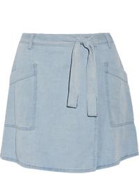 Голубая джинсовая мини-юбка от MM6 MAISON MARGIELA