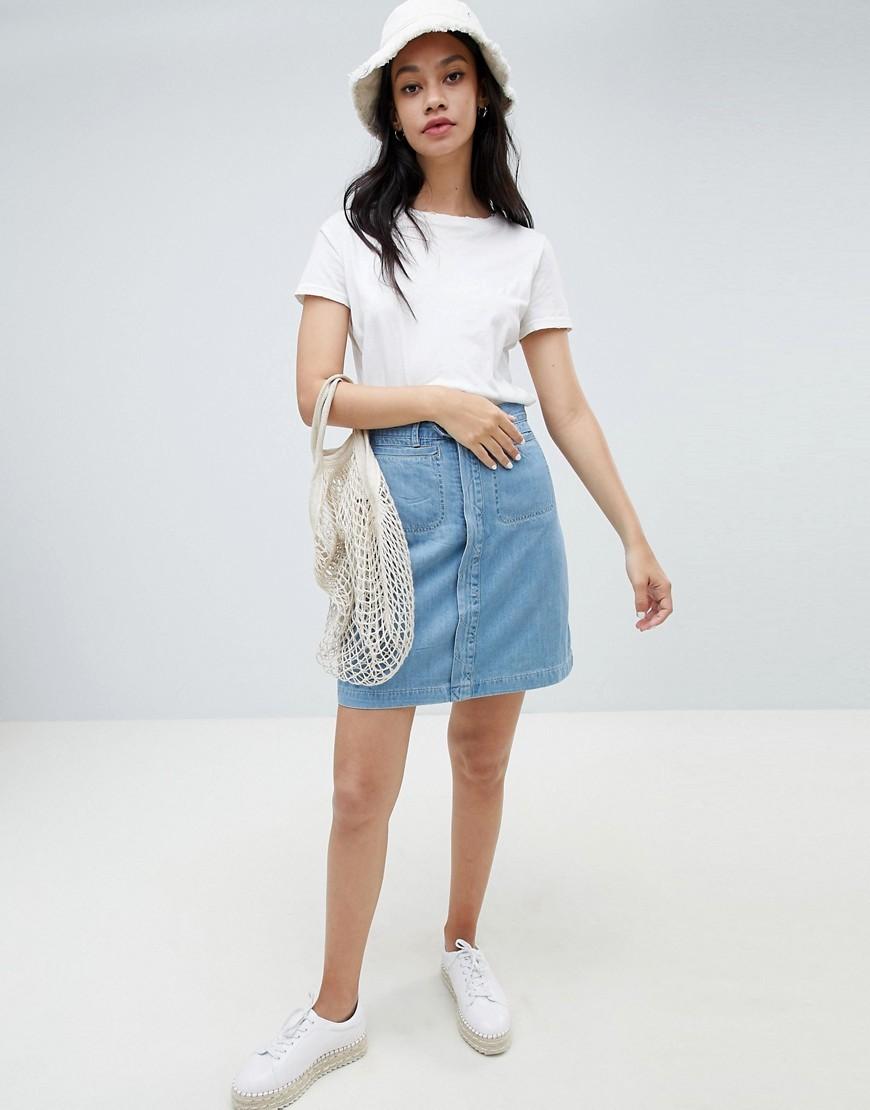 Голубая джинсовая мини-юбка от Ryder