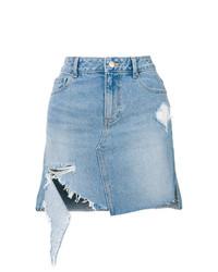Голубая джинсовая мини-юбка от Sjyp