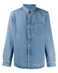 Мужская голубая джинсовая рубашка от A.P.C.