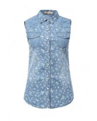 Женская голубая джинсовая рубашка от By Swan