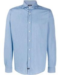 Мужская голубая джинсовая рубашка от Fay