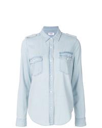 Женская голубая джинсовая рубашка от Frame Denim