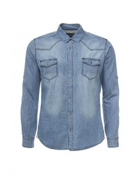 Мужская голубая джинсовая рубашка от Frank NY