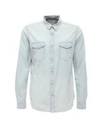 Мужская голубая джинсовая рубашка от Gap