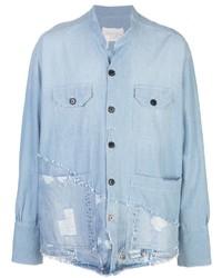 Мужская голубая джинсовая рубашка от Greg Lauren