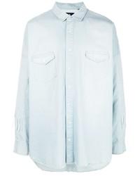 Мужская голубая джинсовая рубашка от Haculla