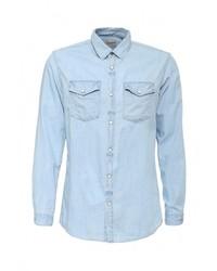 Мужская голубая джинсовая рубашка от Jack & Jones