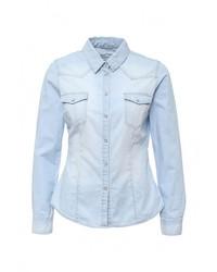 Женская голубая джинсовая рубашка от Jennyfer