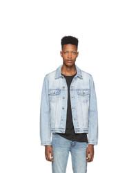 Мужская голубая джинсовая рубашка от Ksubi