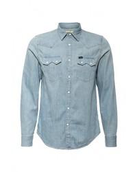 Мужская голубая джинсовая рубашка от Lee