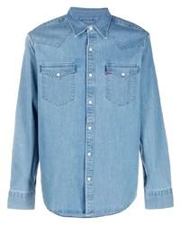 Мужская голубая джинсовая рубашка от Levi's