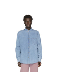 Мужская голубая джинсовая рубашка от Nanushka