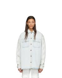 Мужская голубая джинсовая рубашка от Off-White