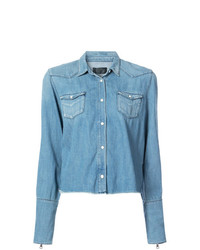 Женская голубая джинсовая рубашка от RtA