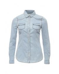 Женская голубая джинсовая рубашка от SPRINGFIELD