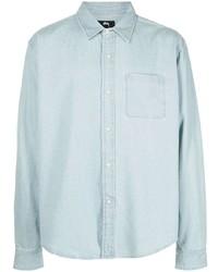 Мужская голубая джинсовая рубашка от Stussy