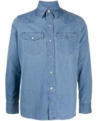 Мужская голубая джинсовая рубашка от Tom Ford