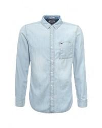 Мужская голубая джинсовая рубашка от Tommy Hilfiger Denim