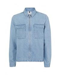 Мужская голубая джинсовая рубашка от Topman