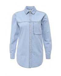 Женская голубая джинсовая рубашка от Topshop