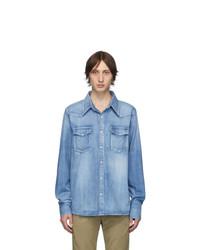 Мужская голубая джинсовая рубашка от VISVIM