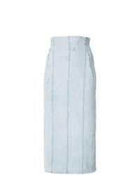 Голубая джинсовая юбка-миди