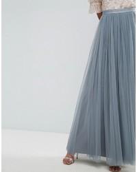 b78bd81adfb ... Голубая длинная юбка из фатина от Needle   Thread