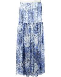 Голубая длинная юбка