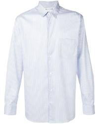 Мужская голубая классическая рубашка в вертикальную полоску от Comme Des Garcons SHIRT