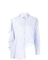 Женская голубая классическая рубашка в вертикальную полоску от EACH X OTHER