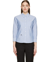 Женская голубая классическая рубашка из шамбре от Band Of Outsiders