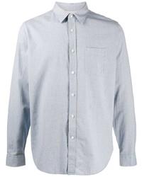 Мужская голубая классическая рубашка из шамбре от Closed