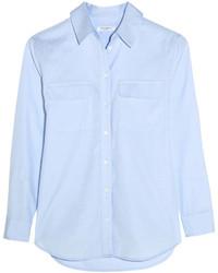 Женская голубая классическая рубашка из шамбре от Equipment