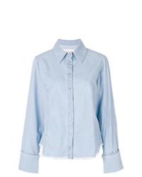 Женская голубая классическая рубашка из шамбре от MARQUES ALMEIDA