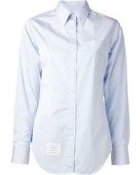 Голубая классическая рубашка