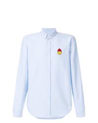 Мужская голубая классическая рубашка от AMI Alexandre Mattiussi