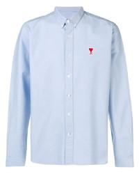 Мужская голубая классическая рубашка от Ami Paris