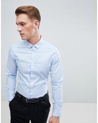 Мужская голубая классическая рубашка от ASOS DESIGN