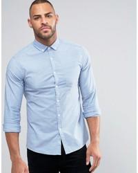 Мужская голубая классическая рубашка от Asos