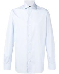Мужская голубая классическая рубашка от Barba