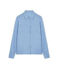 Женская голубая классическая рубашка от Base Forms