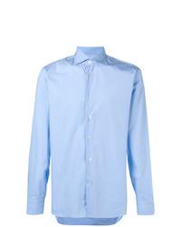 Мужская голубая классическая рубашка от Borriello
