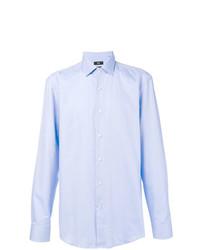 Мужская голубая классическая рубашка от BOSS HUGO BOSS