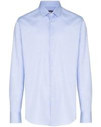 Мужская голубая классическая рубашка от BOSS