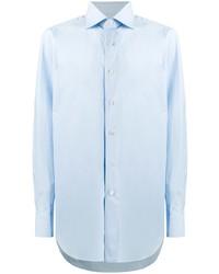 Мужская голубая классическая рубашка от Brioni