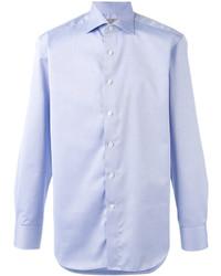 Мужская голубая классическая рубашка от Canali
