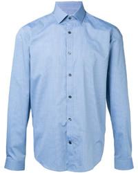 Мужская голубая классическая рубашка от Cerruti
