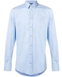 Мужская голубая классическая рубашка от Dolce & Gabbana