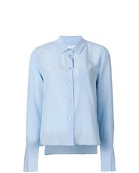 Женская голубая классическая рубашка от Equipment